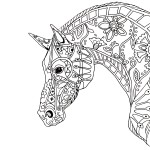 decorative horse profile for print