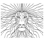 magestic lion for print
