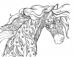horse floral beauty