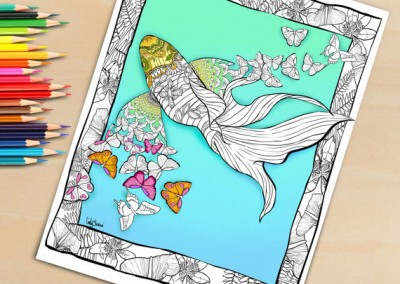 Adult Coloring Book Page, Butterfly Fish Coloring Page for Adults – Download and Print