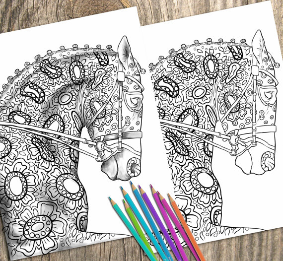 Adult Colouring Page To Download and Print. 2 Images. One Shaded And One Unshaded