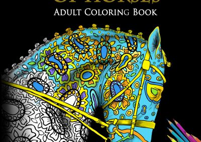 The Amazing World Of Horses Adult Coloring Book