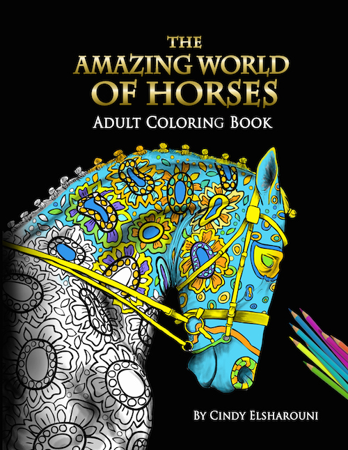 AmazingHorsecoloringbookcover for amazon small