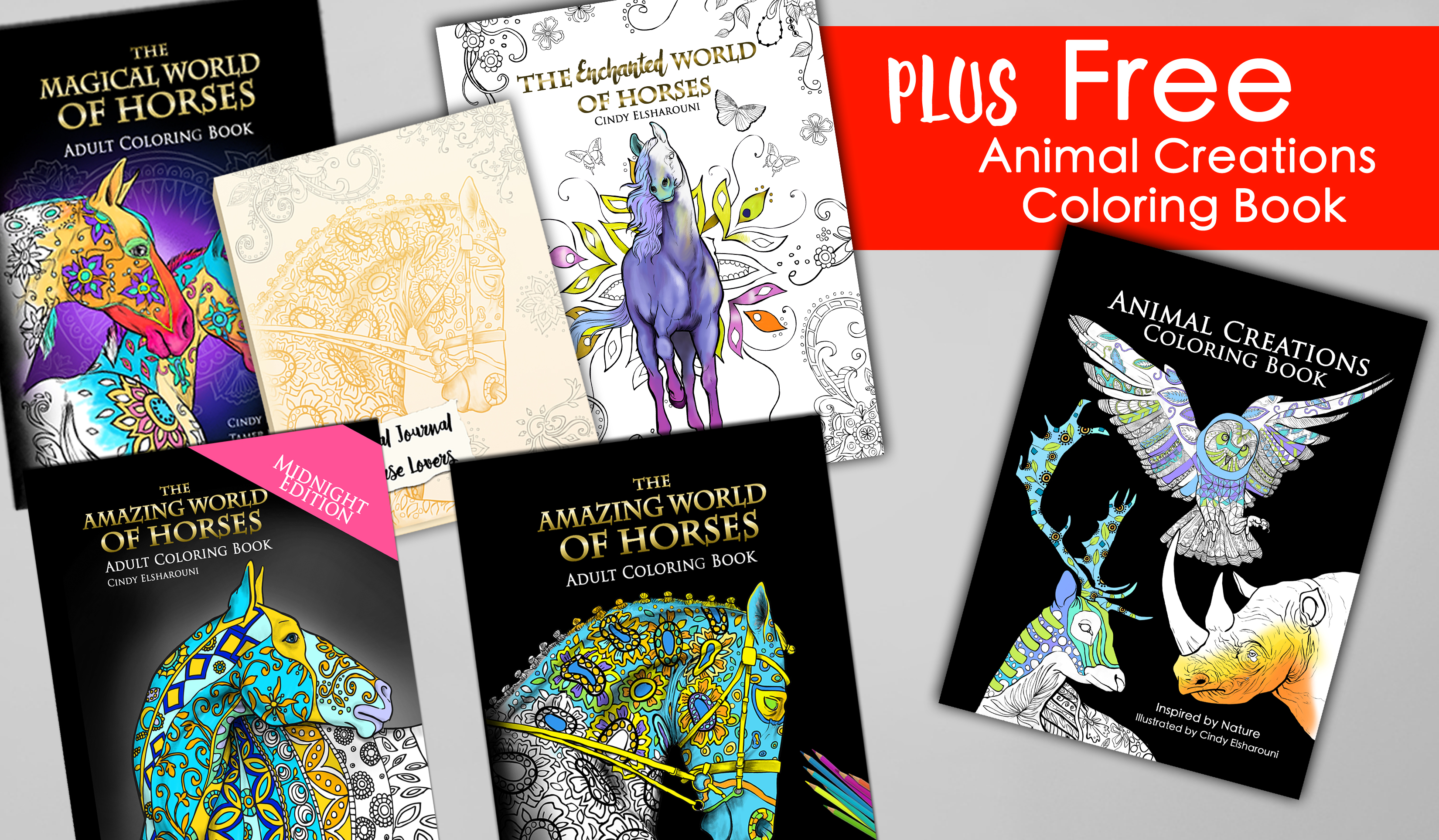 5 Horse Coloring Books Plus Free Animal Creations The Amazing World Of Horses Magical Enchanted