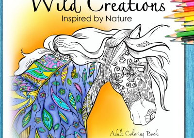 Wild Creations Adult Coloring Book
