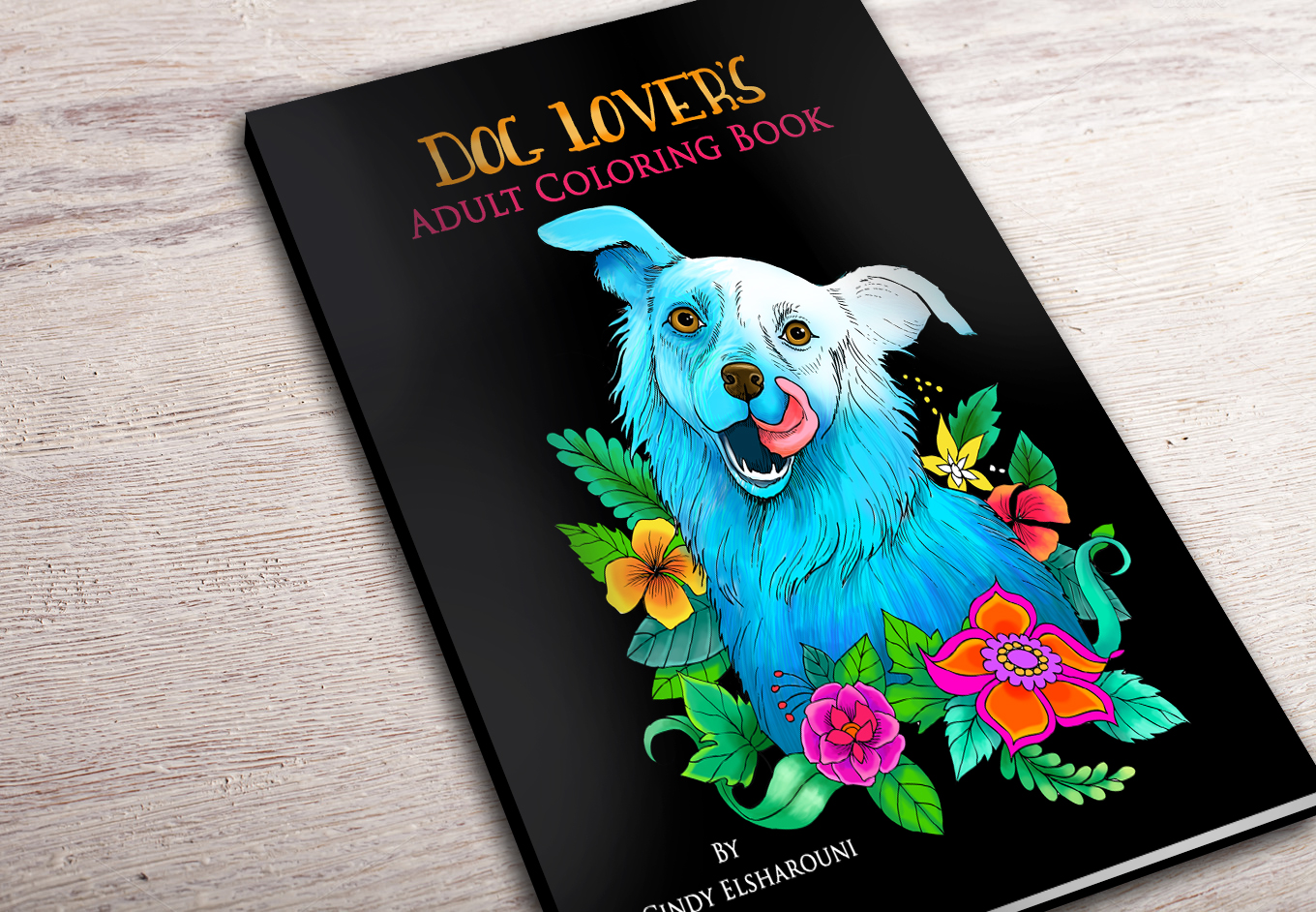 Dog Lovers Adult Coloring Book