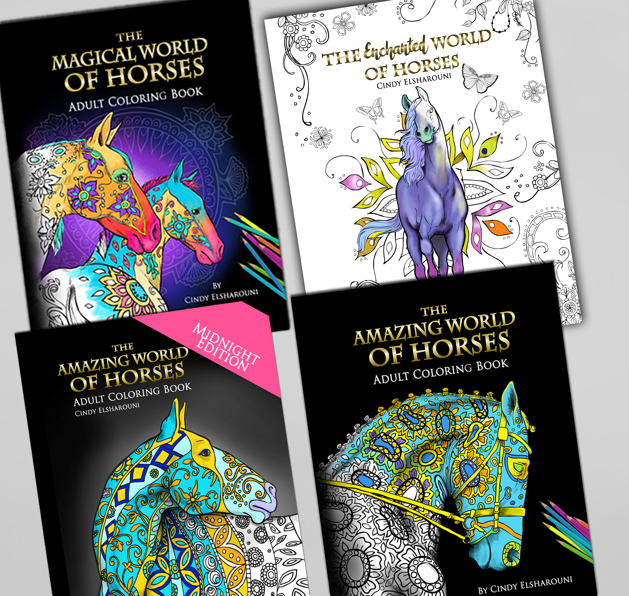 4 Book Horse Bundle