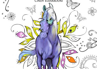 Enchanted World of Horses Adult Coloring Book Digital Download