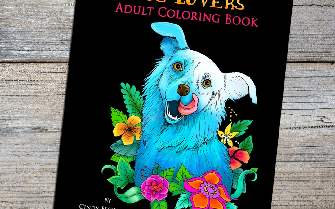 Dog Lover's Adult Coloring Book Digital Download