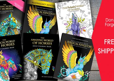 Best 4 Horse Coloring Book Set