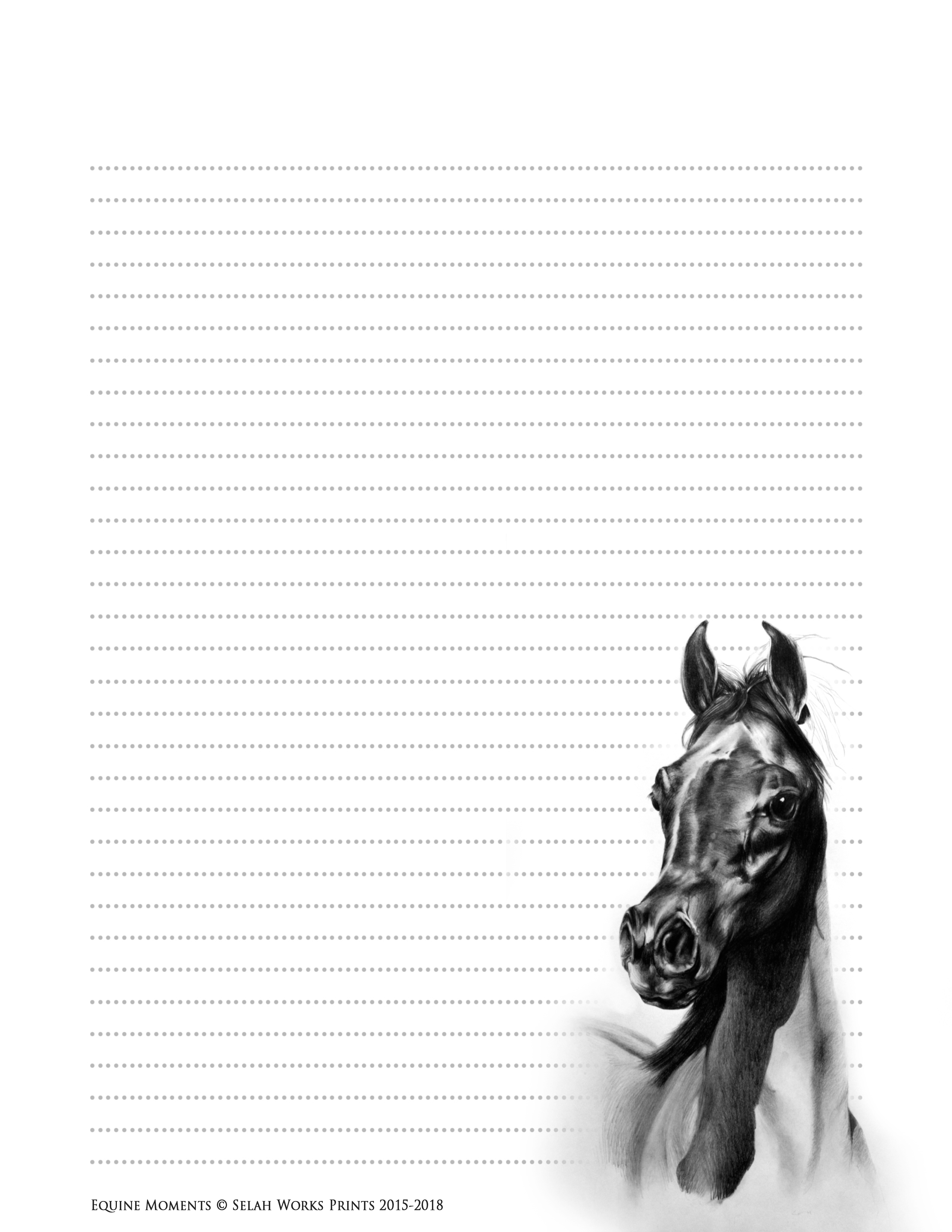free download PDF equine horse journal diary coloring