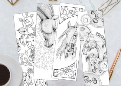 Adult Coloring Bookmarks Printable Set 1