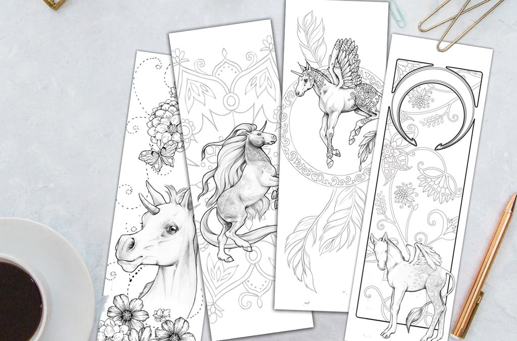 Adult Coloring Bookmarks Printable Set 5