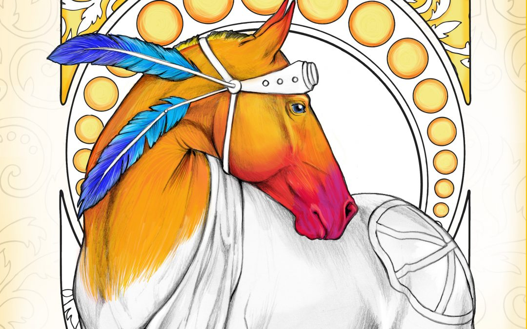Horses : Mysteries And Wonders Coloring Book