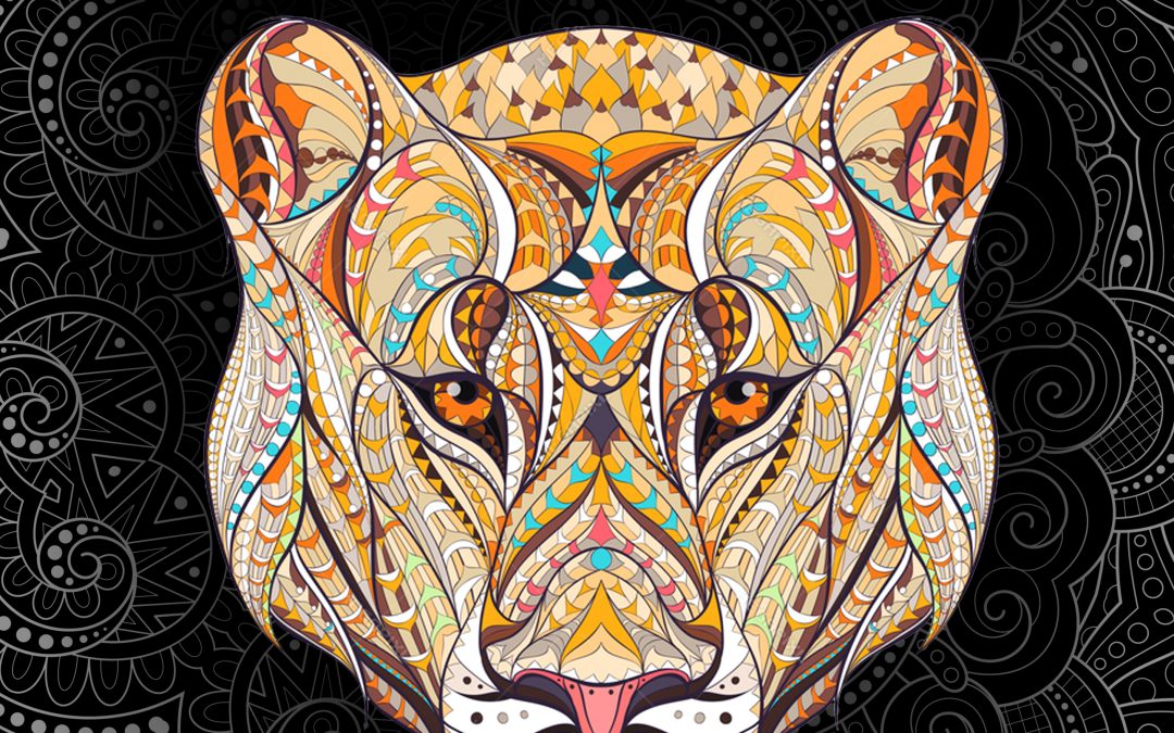 Animal Creations Adult Coloring Book