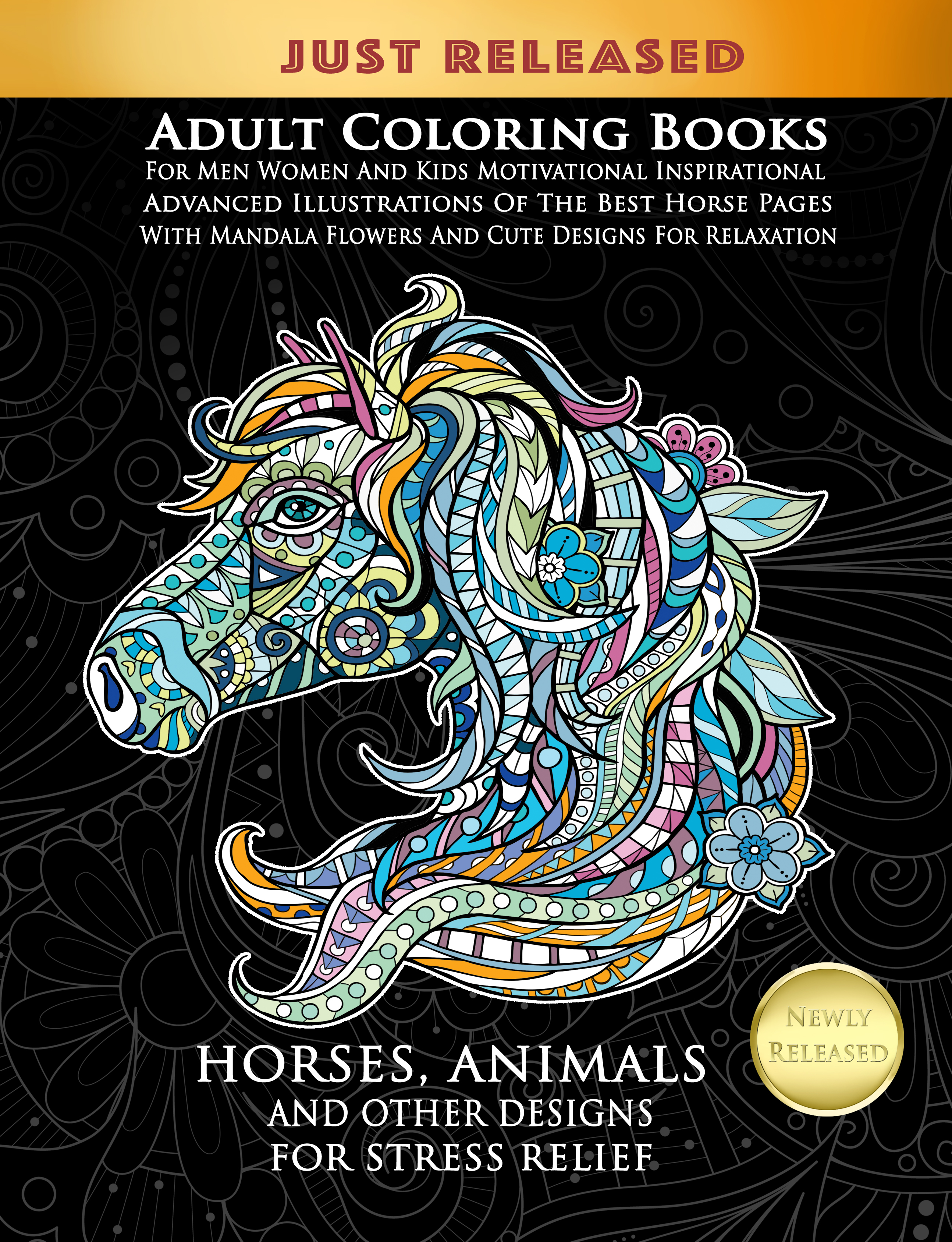 - Horses Animals And Other Designs Adult Coloring Book Selah Works