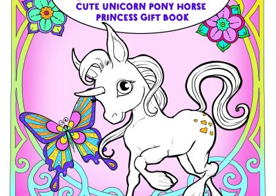 Unicorns Horses And Princess Coloring Book For Kids