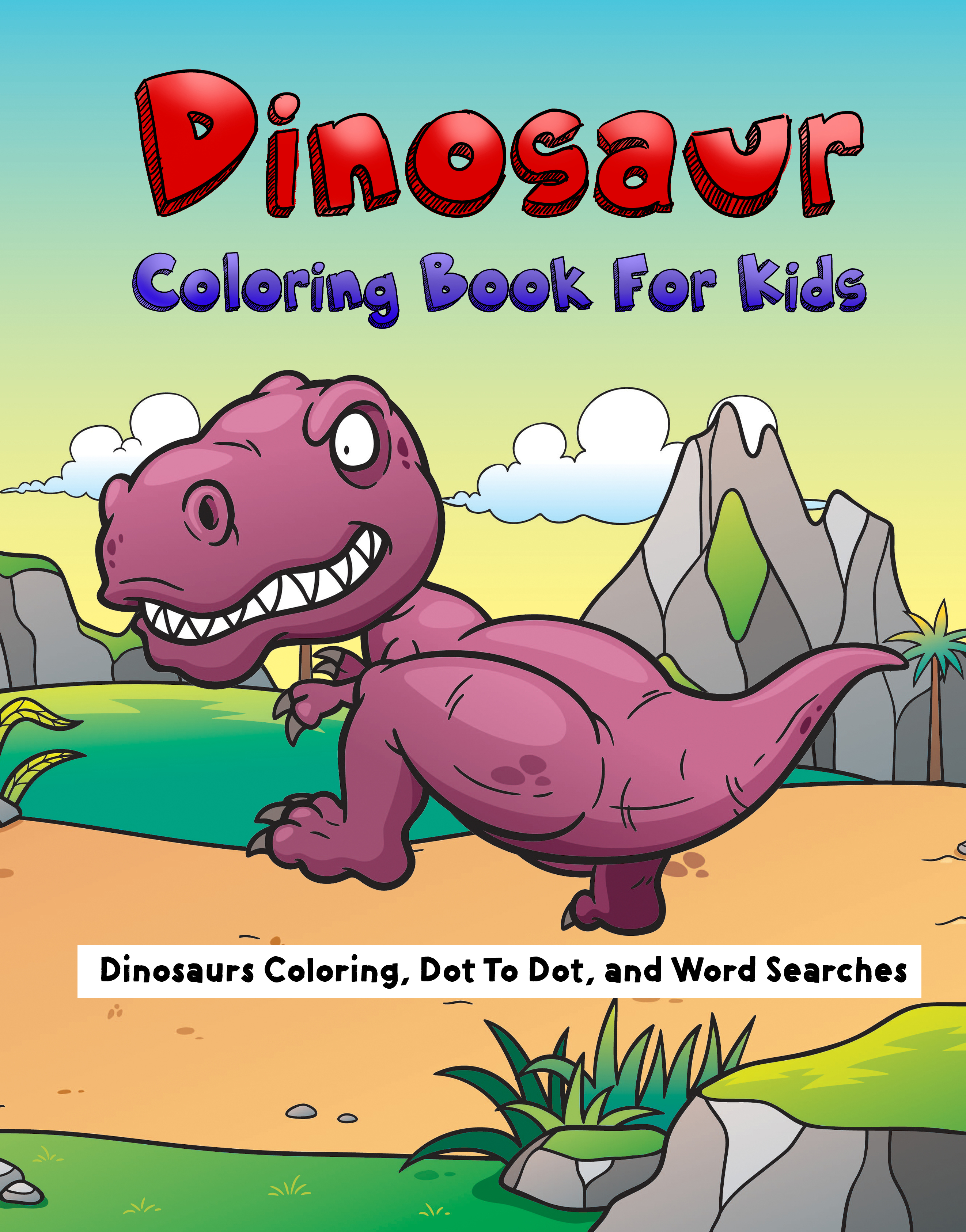 Dinosaur Coloring Book-front
