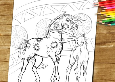 Adult Coloring Book Page – Horse – For Download and Print