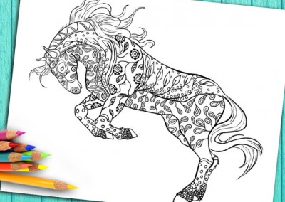 Digital Coloring Book Page for Adults – Download and Print