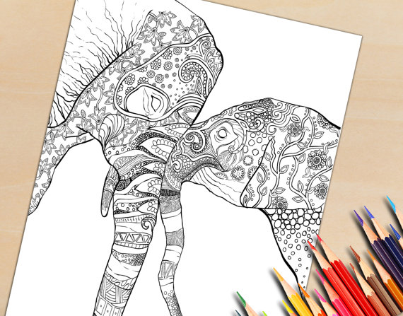 Adult Coloring Page To Download and Print, Printable Coloring Pages For Grown Ups