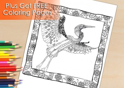 Adult Coloring Book Page From Animal Coloring Book. Printable Beautiful Wildlife