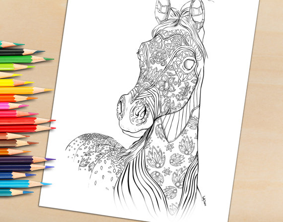 Adult Coloring Book Pages To Download and Print, Coloring Book Page