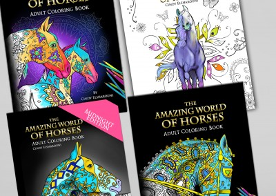 4 Book Horse Bundle – Adult Coloring Set