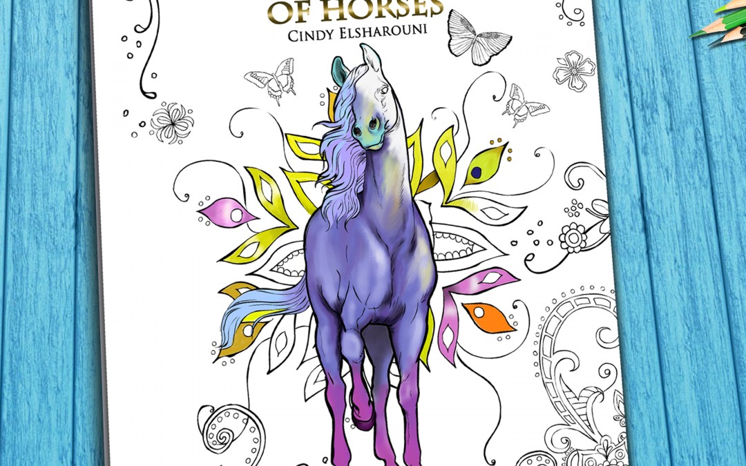 Enchanted World of Horses Adult Coloring Book