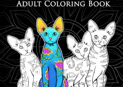 World of Cats Coloring Book