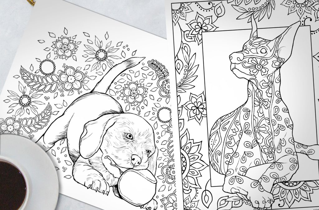 Horses And Other Beautiful Animals Digital Coloring Book