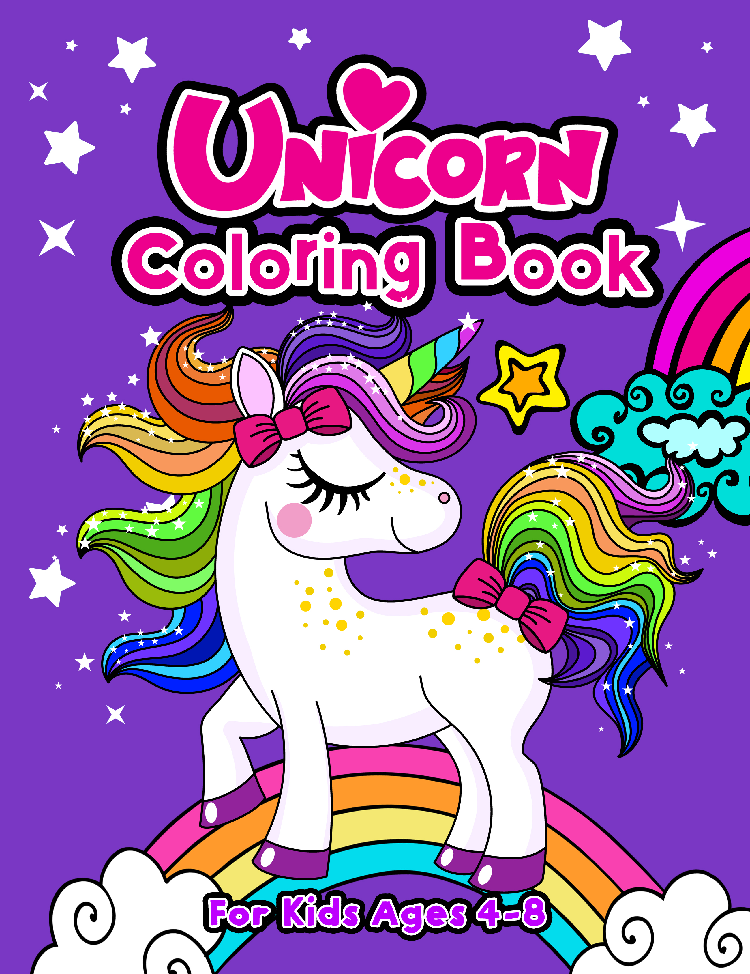 Unicorn Coloring Book For Kids Ages 4-8FRONT